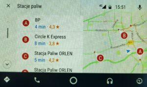 maps google android auto