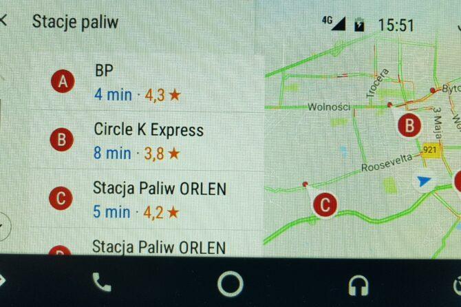 Android Auto – Google Maps w samochodzie
