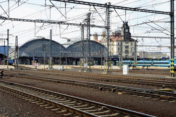 Dworzec kolejowy Praga Główny w Czechach