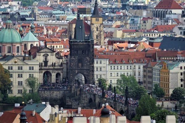 Hradczany, taras widokowy – Praga – Czechy