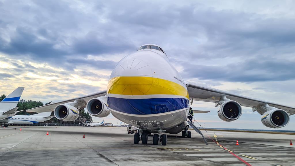Samolot Antonow An124 Rusłan Pyrzowice Airport